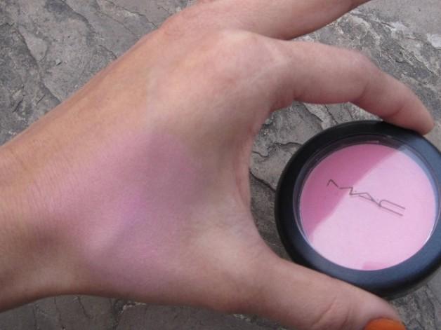 mac pink swoon sheertone blush review swatch