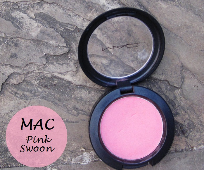 mac pink swoon blush swatch