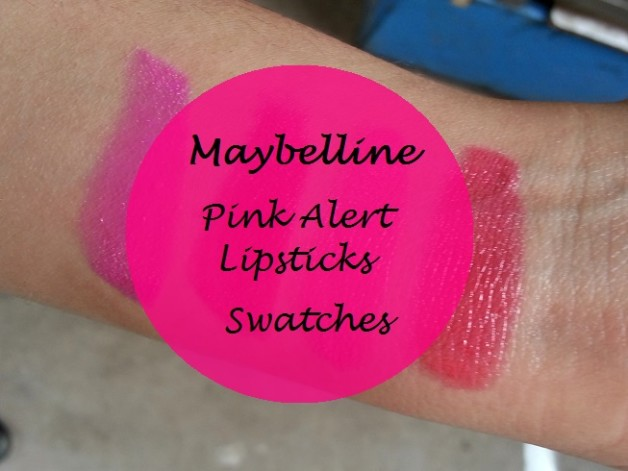 maybelline pink alert lipstick pow1 pow2 pow3 pow4 swatches blog