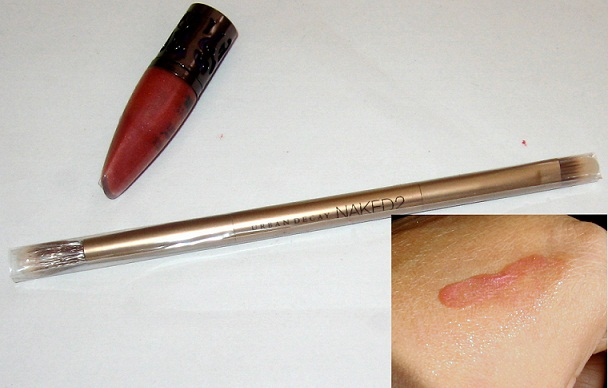 urban decay naked2 eyeshadow palette review brush lipgloss