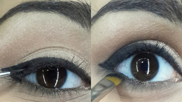ADELE GOLDEN GLOBE INSPIRED cat eye makeup tutorial step 3