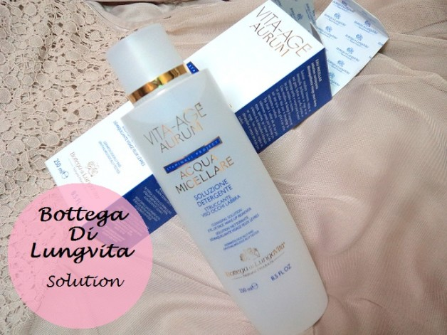 Bottega Di Lungvita Vita Age Aurum acqua Micellare solution review blog