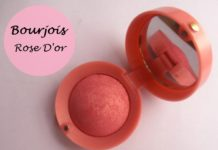 Bourjois round pot blush 34 Rose Dor review swatches india