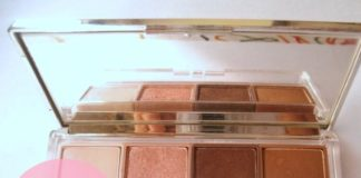 Clinique Colour Surge Eye Shadow Quad Pink Chocolate review swatches blog