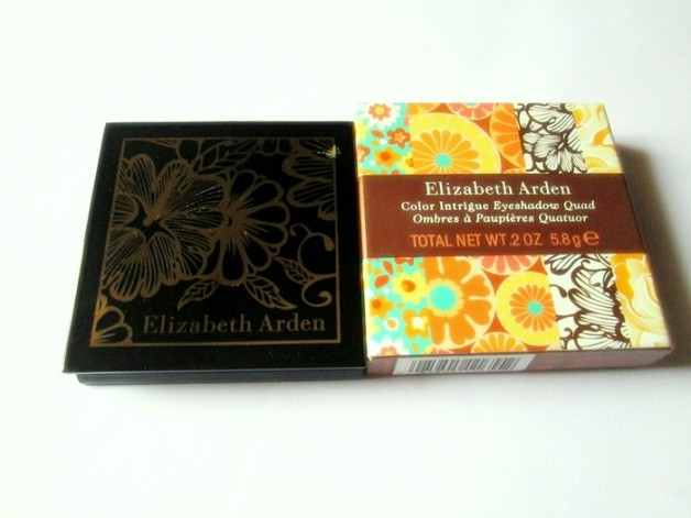 Elizabeth Arden Color Intrigue Eyeshadow Quad Golden Lilac Review swatches blog