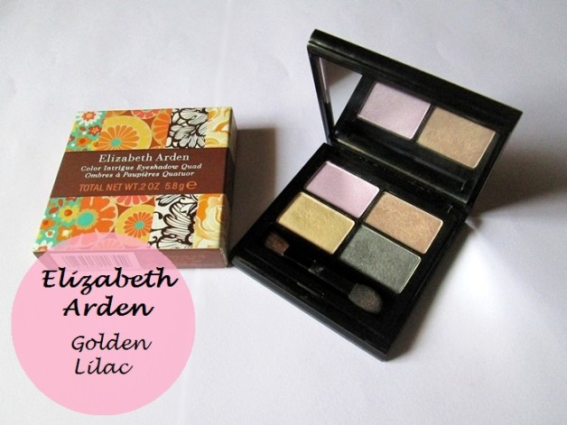 Elizabeth Arden Color Intrigue Eyeshadow Quad Golden Lilac Review swatches photo