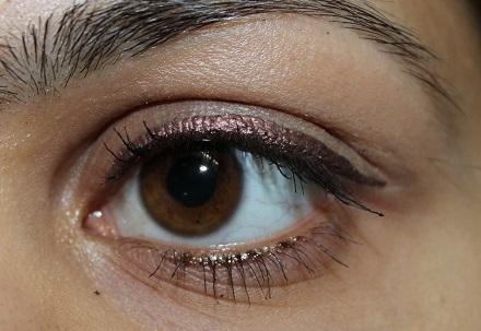 Lakme Absolute Shine Line Eyeliner Brown Shimmer Review Swatches eyes