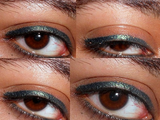 MAC Pearlglide Intense Eyeliner Undercurrent review eye swatches
