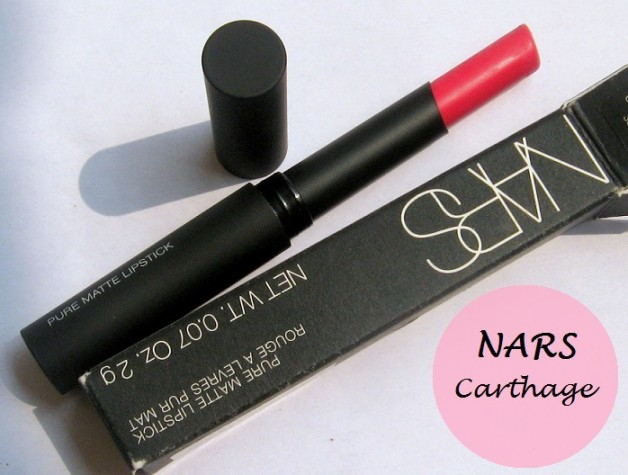 NARS Carthage Pure Matte Lipstick Review Swatches india