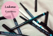 lakme eyeconic kajal shades swatches reviews price