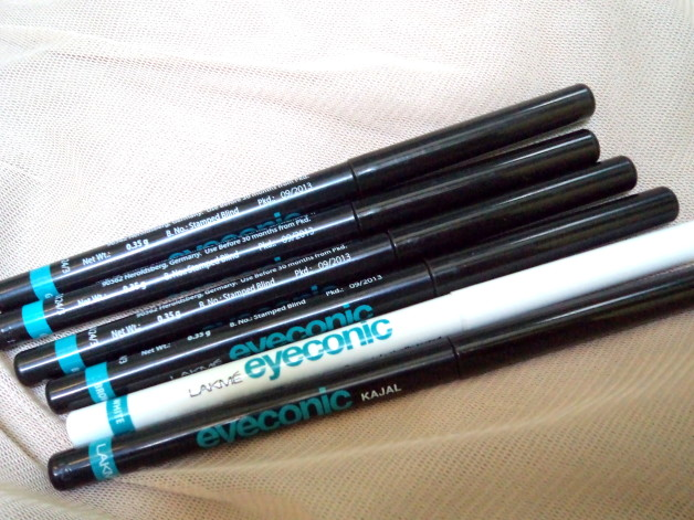 lakme eyeconic kajal shades swatches reviews price blog