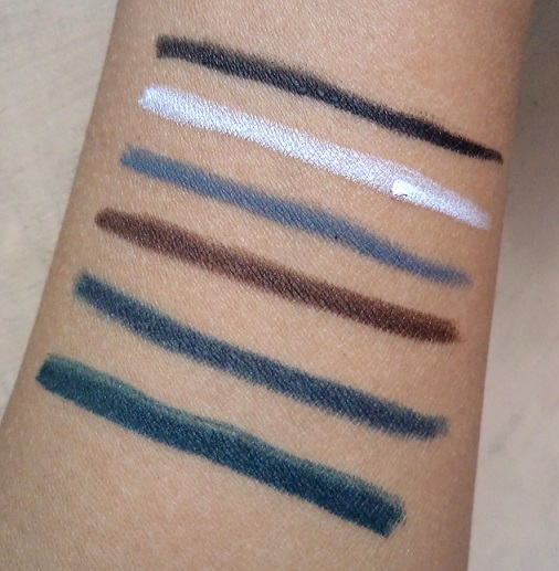 lakme eyeconic kajal shades swatches reviews price photo