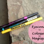 Comparsion: Lakme Eyeconic Kajal vs Maybelline Colossal Kajal vs L'oreal Kajal Magique