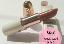 mac bad girl riri lipstick review swatches india