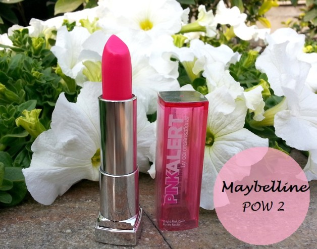 maybelline pink alert lipstick pow2 review swatches india