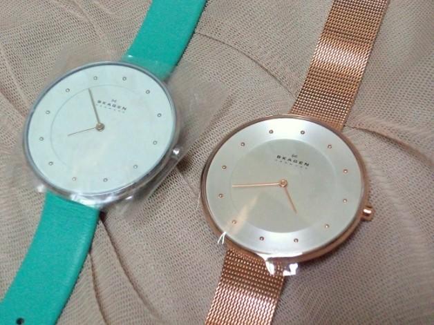 skagen big dial watches for girls