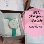 Giveaway: Win Skagen Watch Worth 8K!
