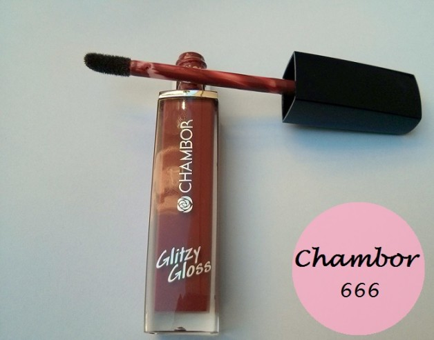 Chambor Glitzy Gloss Intense 666 Lipgloss review swatches photo