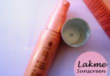 Lakme 9 to 5 Mattifying Super Sunscreen spf50 review swatches india