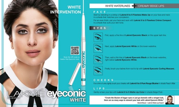 Lakme eyeconic white kajal how to look like kareena kapoor