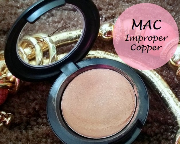 MAC Cream color base Improper Copper Review swatches india