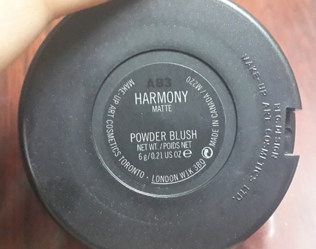 MAC Harmony Blush Review