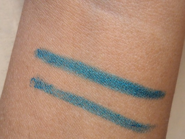 Maybelline Colossal Kohl Turquoise review swatches