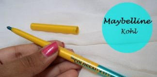 Maybelline Colossal Kohl Turquoise review swatches blog