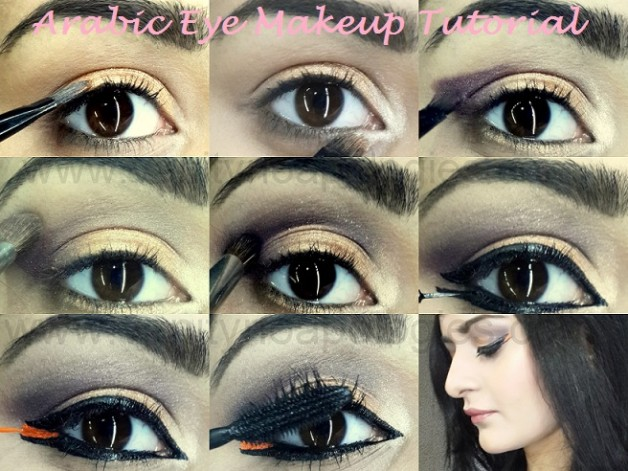 arabic bold eye makeup tutorial step by step