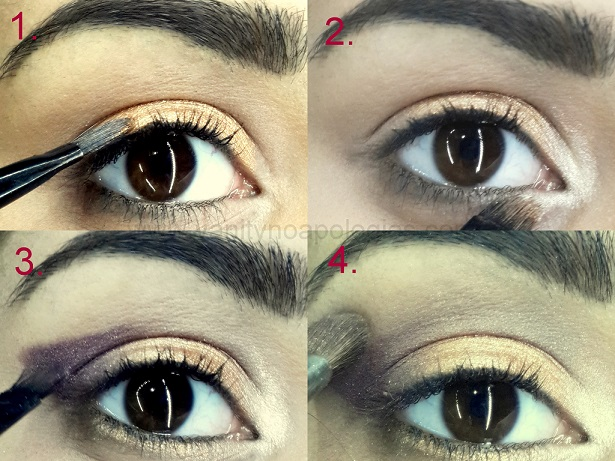 arabic bold eye makeup tutorial step1 2 3 4