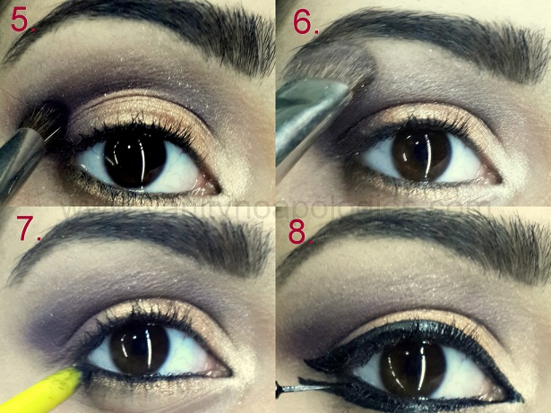 arabic bold eye makeup tutorial step5 6 7 8