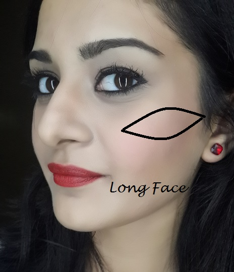 blush application tutorial for long face shape