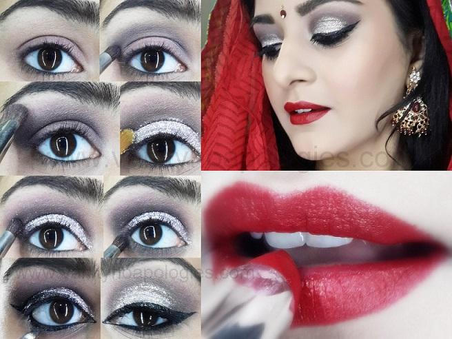 Tutorial Indianpakistani Bridal Makeup Look Dramatic Smokey Silver