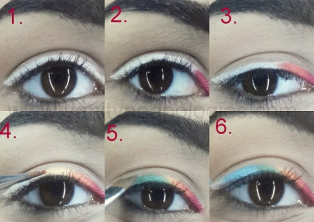 easy rainbow eyeliner makeup tutorial step by step