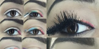 easy rainbow eyeliner makeup tutorial steps explained