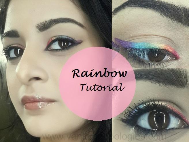 easy rainbow eyes colourful makeup tutorial steps · stani ...