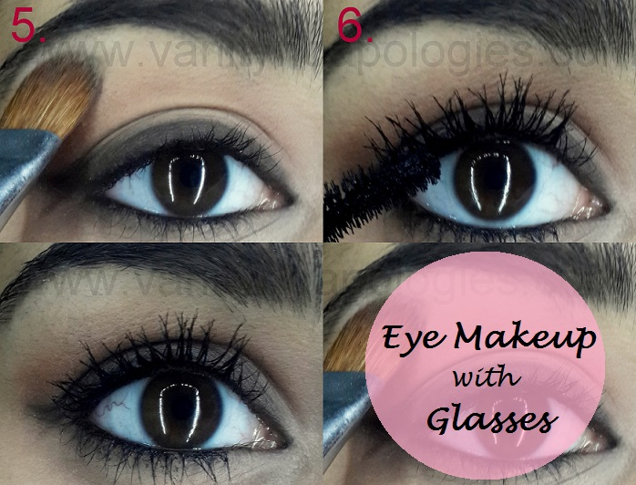 eye makeup tutorial for girls who wear glasses