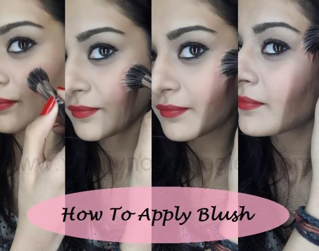 how to apply blush proper way tutorial step by step
