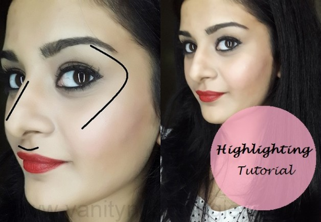 how to highlight face makeup tutorial
