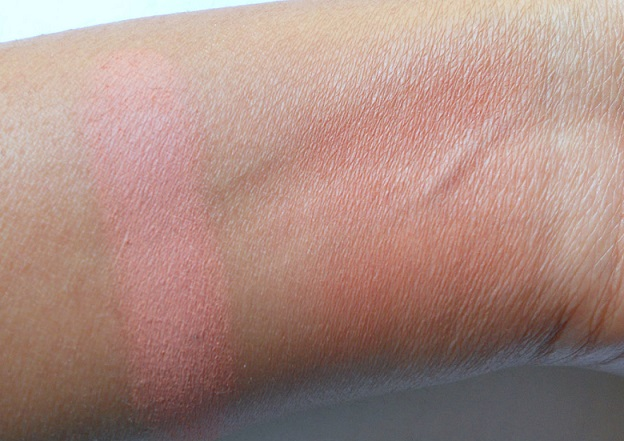 mac melba powder blush review swatches