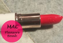 mac pleasure bomb lipstick review swatches blog