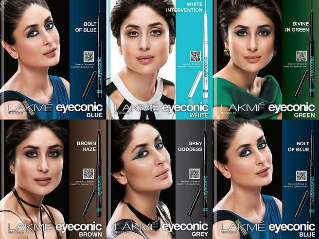 makeup looks with lakme eyeconic green blue brown white grey black steps tutorial