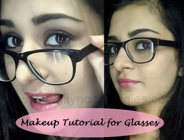 makeup tutorial for girls who wear glasses