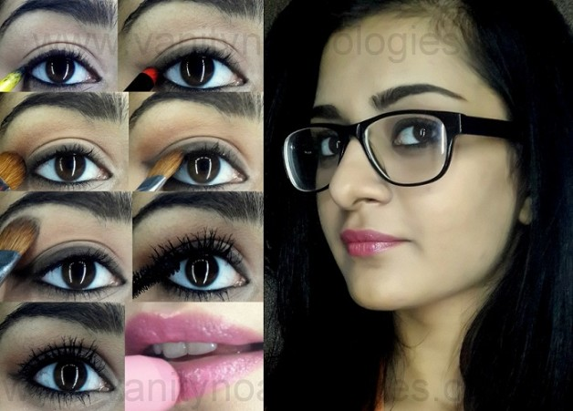 makeup with glasses tutorial step by step