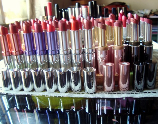 my lipstick collection indian