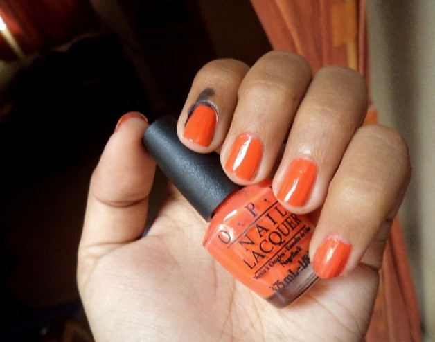 notd opi atomic orange nail polish brights collection