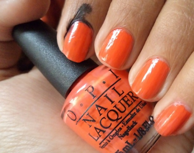 opi atomic orange nail lacquer swatches