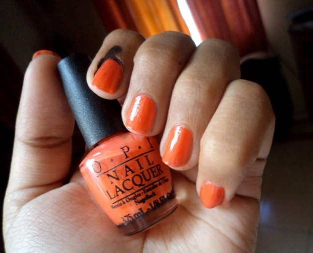 opi atomic orange nail polish brights collection review