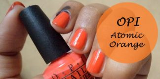 opi atomic orange nail polish brights collection swatches