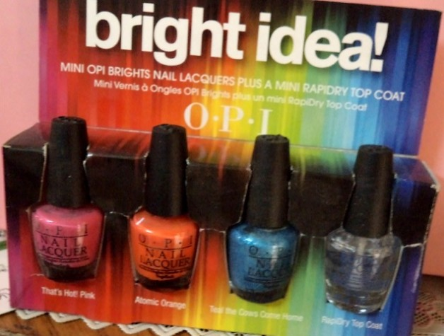 opi bright idea mini nail lacquers kit review